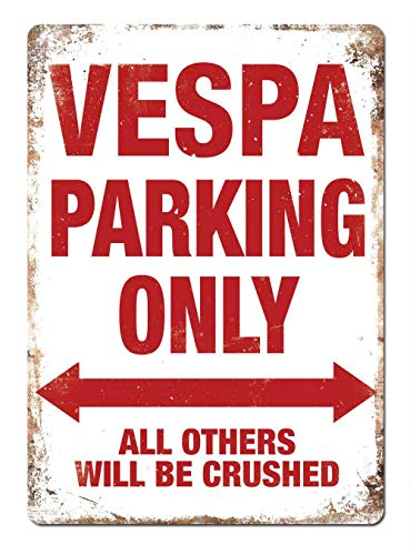 Vespa Parking Only Blechschild Retro Blech Metall Schilder Poster Deko Vintage Kunst Türschilder Schild Warnung Hof Garten Cafe Toilette Club Geschenk