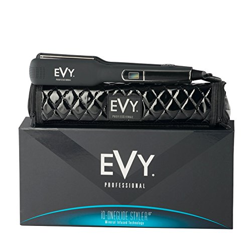 EVY Professional iQ Oneglide 1.5 Styler, Flat Iron, Straightner (Dual Voltage 120/240)