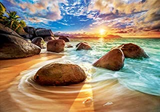 Sunset by the seaside DIY 5D Diamond Painting Kits for Adults Kids Wall Hanging Painting Heart Gift Diamond dotz Paint by ...