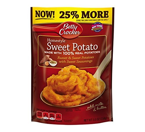 Betty Crocker Homestyle Sweet Potato Mashed Potatoes, 5.6 Ounce - 7 per case.