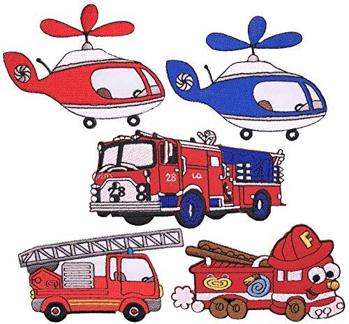 i-Patch - Patches - 0260 - Feuerwehr - Polizei - Lastwagen - Traktor - Bagger - Trecker - Auto - Flicken - Aufnäher - Badges - Bügelbild - Aufbügler - Iron-On - DIY - Applikation - Zum Aufbügeln