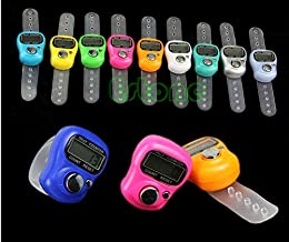 Worldoor 5 Stitch Marker and Row Counter LCD Electronic Digit Tally Counter Hot