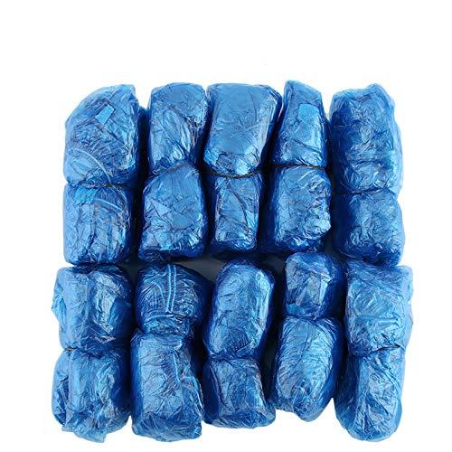 100 Unids / set Desechables Cubiertas de Zapatos de Plástico Habitaciones Al Aire Libre Impermeable Bota de Lluvia Carpet Limpio Hospital Cubrezapatas Kits de Cuidado de Zapatos