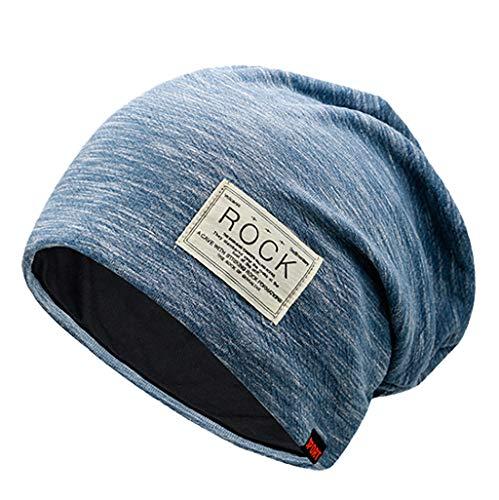 Fenverk Street Classics | Cozy fit Beanie, Mütze | Damen, Herren | mit weichem Teddyfell gefüttert | für warme Ohren | Relax fit(B Blau)