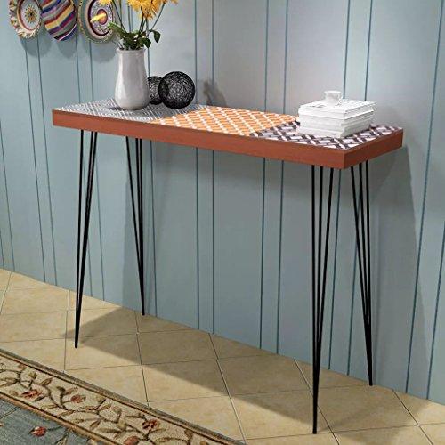 Lechnical Mesa Consola marrón Mesa de Consola Escritorio Mesa de Entrada Mesa Auxiliar para Salón, Dormitorio Mesita de Noche 90x30x71,5 cm