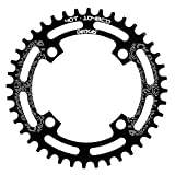 DECKAS 104BCD 40T 42T 44T 46T 48T 50T 52T Narrow Wide Chainring Single Chainring for 9/10/11-Speed (Round Black, 52T)