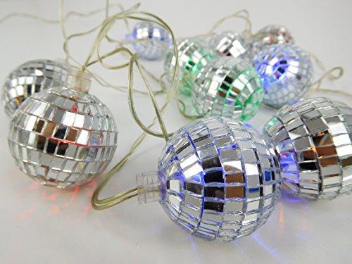 CHRISTMAS CONCEPTS 10 Multi LED Discoteca Mirror Ball Luces - 2 Metros de Longitud - Red operada