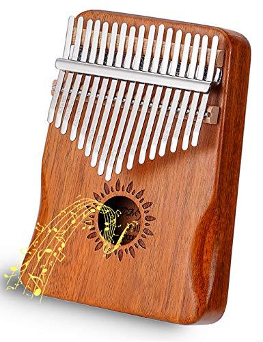 Kalimba 17 Schlüssel Daumen-Klavier Upgrade Design Akazienholz Schutzhülle Tune Hammer Tragbar Handgemachtes afrikanisches Musikinstrument für Kinder Erwachsene Anfänger Profis