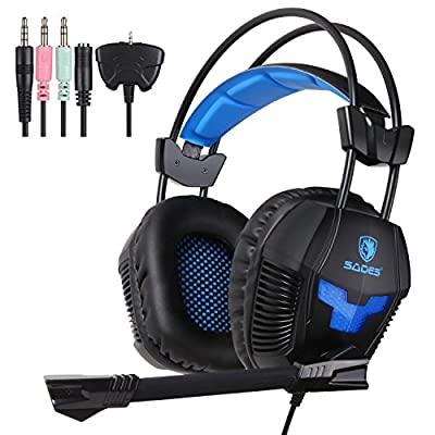 Yanni Sades SA921 Game Headphones with Mic Gaming Headset for PS4 Xbox360 Xbox one PC iPhone Smart Phone Laptop iPad Mobile phones(Black)