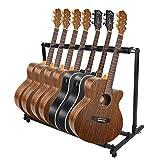 Soporte de guitarra Stand Soporte Suelo para 7/9 Guitarras se adapta a todas las guitarras acústicas eléctrico bajo soporte (7 Guitarra)