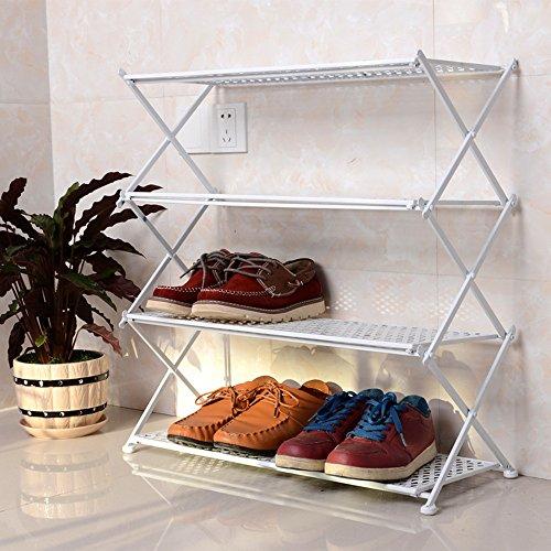 Estante Plegable Para Zapatos Hierro Incorporado Estante De Zapatos Multi-capa Muebles Modernos Simples