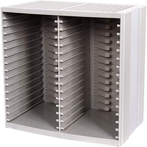 Fellowes CRC98230, Caja de almacenaje de CD, color gris