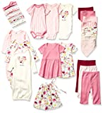 Touched by Nature Unisex Baby Organic Cotton Layette Set and Giftset, Botanical, 0-6 Months