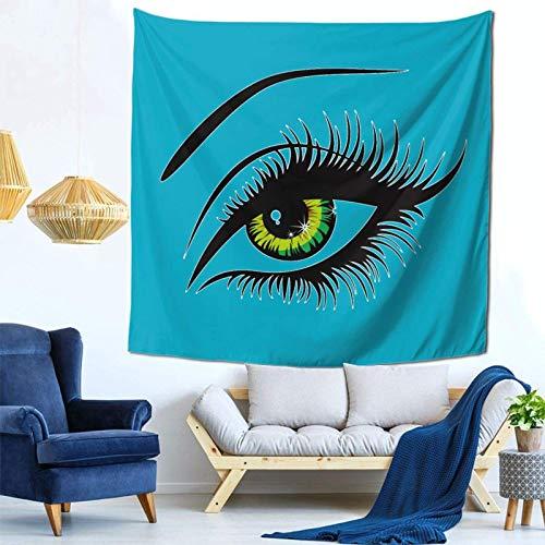 Lsjuee White Eyes Tapestry Wall Hanging Home Decor Fan Art per Camera da letto Soggiorno Dormitorio