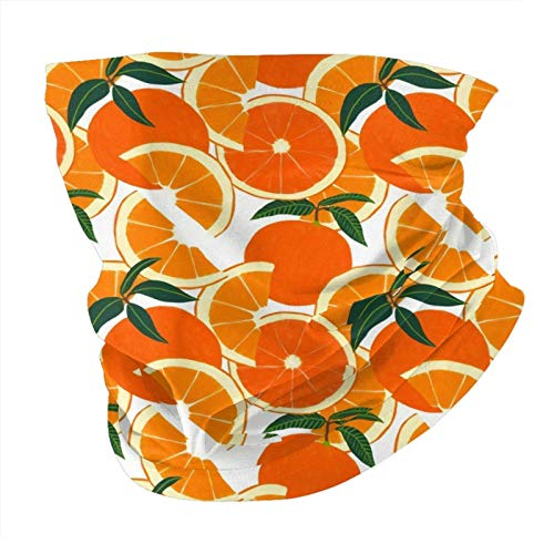 Decams Bandana máscara facial naranja cosecha blanca pasamontañas al aire libre a prueba de polvo, resistente al viento, multifuncional, para hombres y mujeres