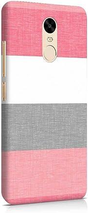 MADANYU Retro Pink White Stripes Colorful Designer Printed Hard Shell Case For Redmi Note 4