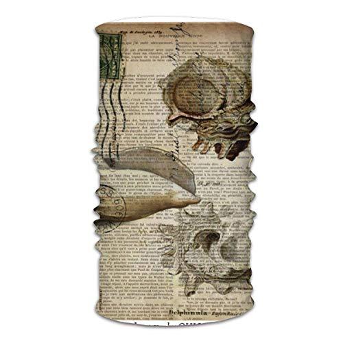 Máscara facial multifuncional unisex con impresión de diccionario playero, bandanas vintage y casual para la cabeza, pasamontañas, bufanda para la cabeza para hombres