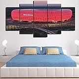5-teiliges Leinwandbild Bayern München Allianz Arena