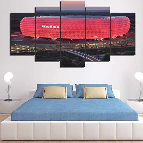 5 stück leinwand Bayern münchen Allianz - Arena Gruppe hd Zimmer dekor Bild drucken Poster Mauer - Kunst