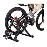 Bike Trainer Stand – Portable Stainless Steel Indoor Exercise Bicycle Trainer Magnetic Flywheel, Stationary Bike Resistance Trainers for Road & Mountain Bikes,Up to 330 lbs, US Shipping