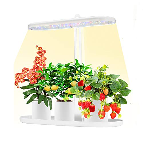 Indoor Garden Kit,Herb & Kitchen Garden Grow Light,Full Spectrum Plant Light with Auto ON/Off 3/9/12H Timer, 4 Dimmable Brightness for Indoor Plant Growth