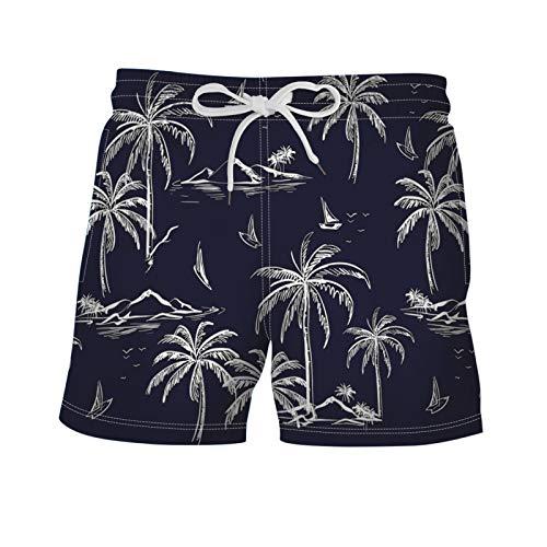 Pantalones de Playa con cordón de Cintura elástica de Verano para Hombre, Pantalones Cortos Informales cómodos y Transpirables de diseño Colorido a la Moda XL