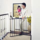 Toddleroo by North States 47.85' Wide Easy Swing & Lock Baby Gate: Ideal for Wider Areas and stairways. Hardware Mount. Fits Openings 28.68' - 47.85' Wide (31' Tall, Matte Bronze)