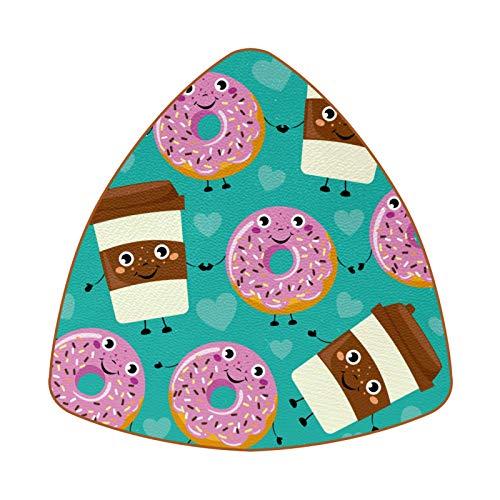 Posavasos para bebidas, juego de 6 posavasos de diamante para inauguración de la casa, regalo de anfitriona, decoración de cocina, juego de 6 vasos de café de dibujos animados de Smiley Donuts