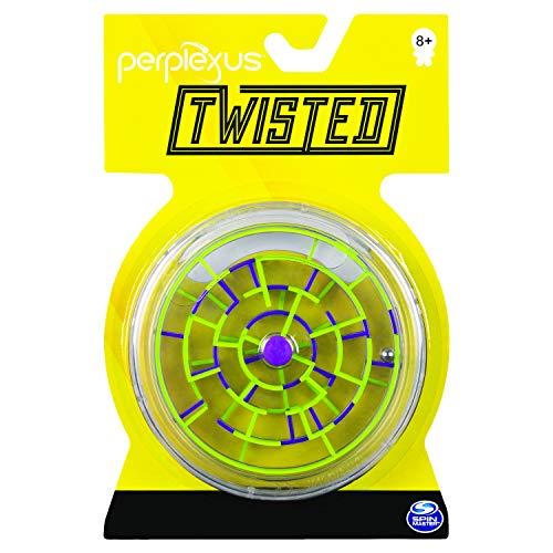 Spin Master Games 6053899 Perplexus Twisted, tragbares 3D-Labyrinthspiel mit 2 Labyrinthen, für Kinder ab 8Jahren, Multicolour