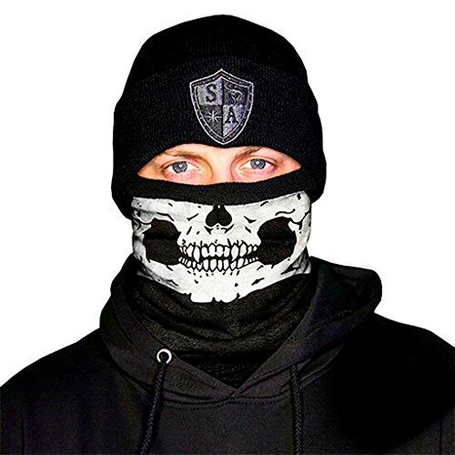 SA Fishing Thermal Fleece Shields (Frost Tech) Half Skull Fleece Lined