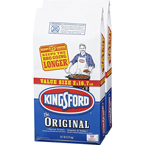 Kingsford Original Charcoal Briquettes, Two 16.7 lb Bags
