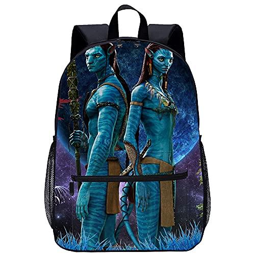 TUOXING Avatar Movie Character Poster3D gedruckte Bookbags Rucksack Damen Cartoon Schultasche für Jungen Grund- und Mittelschüler 17 Zoll