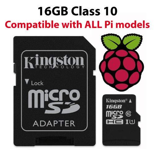 Raspberry Pi16GBDS Pi 16 GB Official NOOBS Micro SD Card - Black