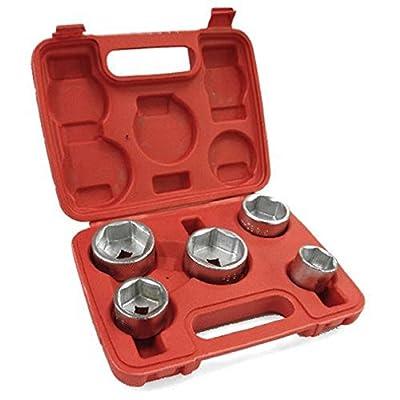 "Oil Filter Socket Set Removal Tool 3/8"" Drive 24 27 32 36 38mm"