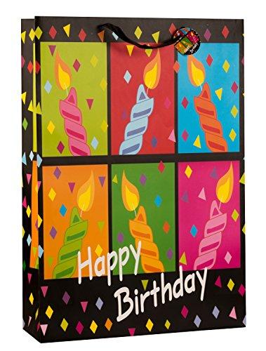 Riesige XXL Geschenktüte Happy Birthday im 2er Set Abmessung 50x72x16cm