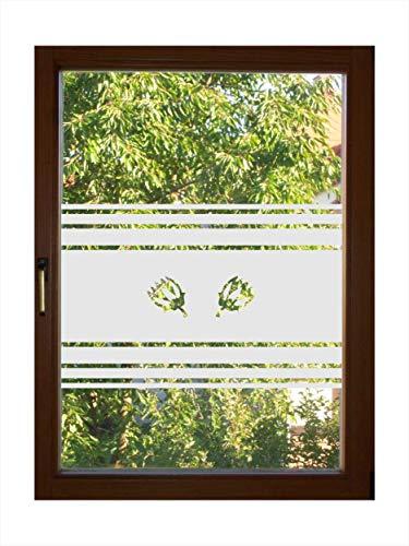 rs-interhandel® Sichtschutz Folie Fenster Sichtschutzfolie Fensterfolie Glasdekor Sichtschutzfolie blickdicht wasserfest selbstklebende Folie egdt30 / 55cm hoch