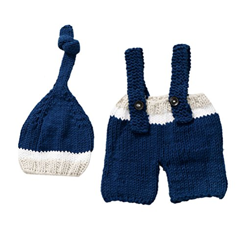 Zhhlinyuan Mode Newborn Baby Boy Girl Crochet Knit Costume Photo Photography Prop Outfit 2176
