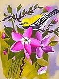 Pintura de diamantes flores punto de cruz mosaico bordado de diamantes pájaros y flores imágenes de diamantes de imitación decoración del hogar A8 45x60cm