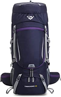 60L Waterproof Camping Backpack, Hiking Backpack with Rain Cover,Outdoor Sport Travel Lightweight Daypack