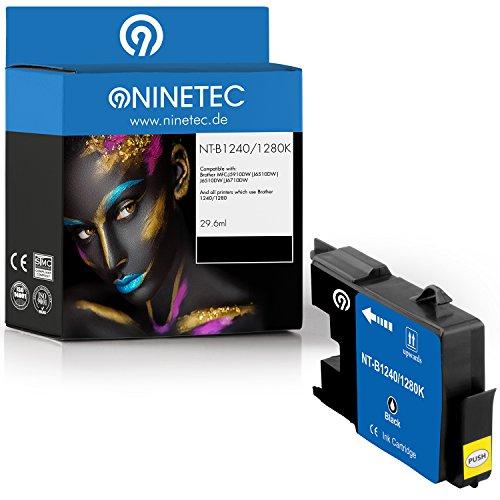 Original NINETEC NT B12401280K Tintenpatrone kompatibel mit Brother LC12401280 Black