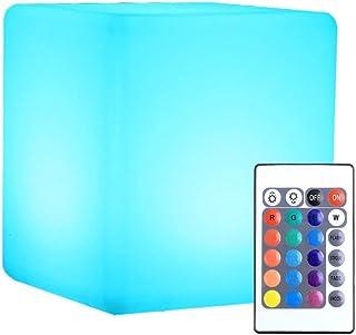 JDKC- Lumière de Cube Rougeoyante, Rechargeable par USB, Lampe D'ambiance Multifonction avec Télécommande, pour la Piscin...