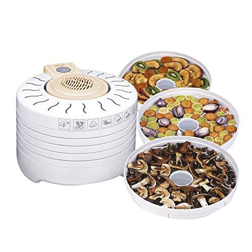 Mpm MSG-03 Deshidratador de Alimentos Eléctrico, 5 Bandejas expansibles de 28 cm, Frutas, Setas y Verduras, 250W, 250 W, 0 Decibeles, Blanco