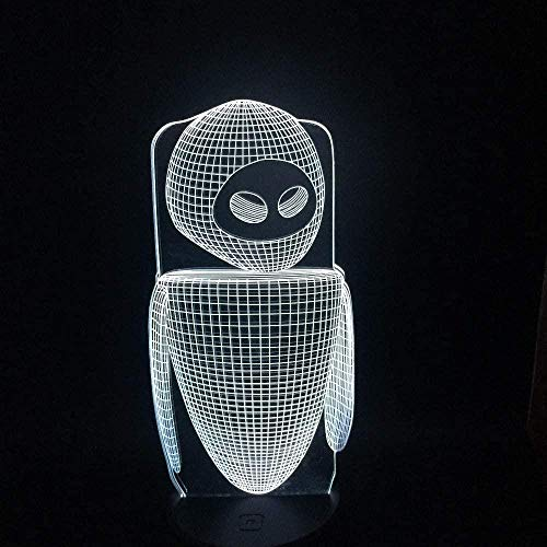 3D Illusion Lamp Alien Picture Acrylic Night Light 16 Colors Changing with Smart Touch and Remote Control Creative Table Lamp Perfect Gifts for Children