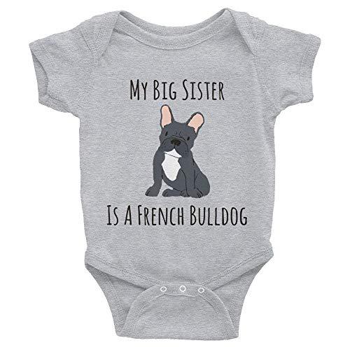 Toll2452 Body para bebé, ropa de bebé Bulldog francés, mono para bebé, traje unisex para recién nacido, mono de manga corta