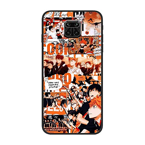 BAMANER Case for XIAOMI Redmi Note 9 Pro/Note 9 Pro MAX, Haikyuu-Kageyama Tobio-Hinata Shouyou Art 7 Black TPU Matte Coque Fit Flexible Ultra Thin