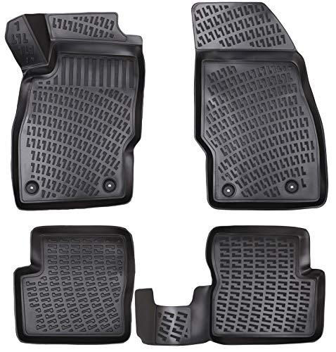 Elmasline Design 3D Gummimatten Set für OPEL Corsa D Baujahr 2006-2014 | Extra hoher 5cm Rand