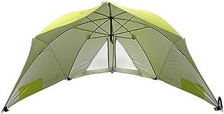 Homecall Strandschirm mit Fenster und Windschutz – (Grün)