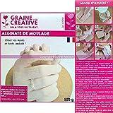 Polvo de moldeo de alginato, ideal para huellas corporales y alimentarias, 500g
