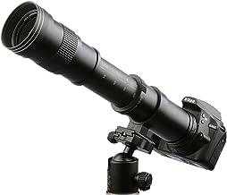 $104 » Lightdow 420-800mm f/8.3 Manual Zoom Telephoto Lens + T-Mount for Nikon D5500 D3300 D3200 D5300 D3400 D7200 D750 D3500 D7500 D500 D600 D700 D800 D810 D850 D3100 D5100 D5200 D7000 D7100 Camera Lenses