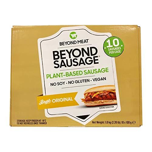 Beyond Meat Salchichas x 10 unidades   100% Vegetal   Plant Based   Sin Gluten   Sin Soja   Vegano   (10x100g)